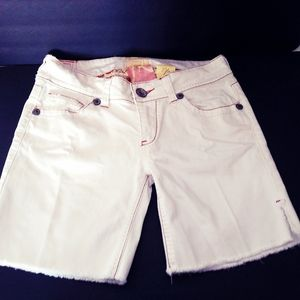 Vintage Boho, Marlow Embroidered White Shorts 29""